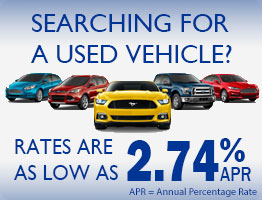 Searching for a used vehicle? Rates as low as 2.49% apr.
